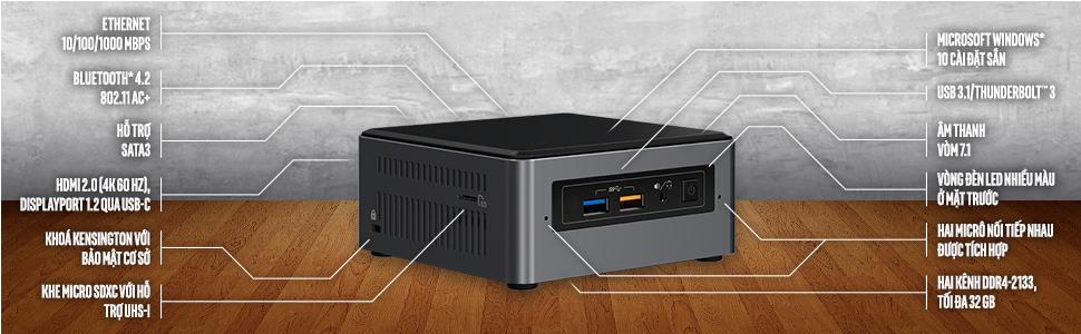 Intel NUC Tăng tốc nay đã có bộ nhớ Intel optane(TM)