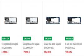 SSD chuẩn PCIe NVMehiệu suất vượt trội