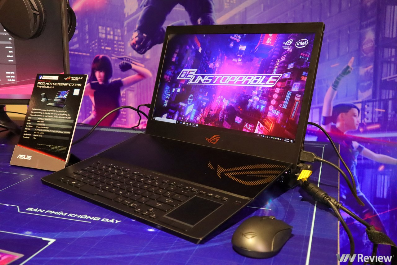 Laptop gaming ASUS ROG Mothership về Việt Nam