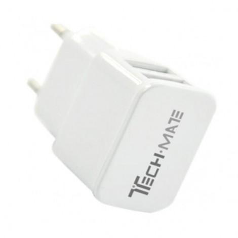 Cốc Sạc đôi USB đa năng Techmate TMDC-01