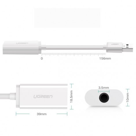 Bộ chuyển USB sang Audio Ugreen 30712