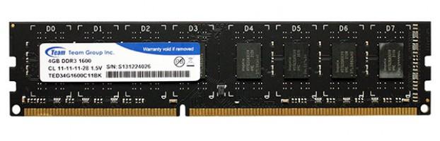 RAM 4GB Team Elite Bus 1600