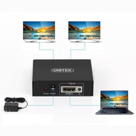 Bộ chia HDMI 1 ra 2 Unitek Y5183A