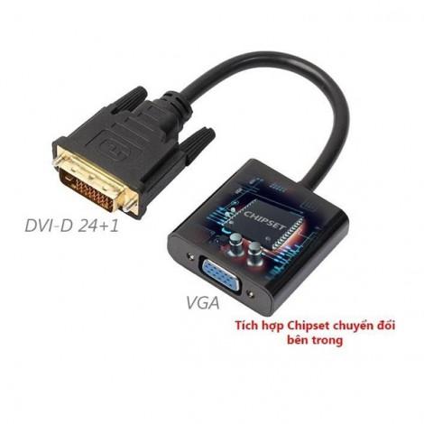 Cable chuyển đổi tín hiệu DVI-D 24+1 sang VGA
