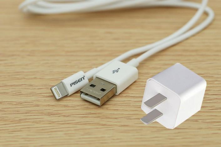 Bộ sạc pin cho điện thoại combo Pisen-Lighning AL01