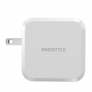 SẠC INNOSTYLE GAN ZENI 65W CHO IPHONE, IPAD, TABLET, SMARTPHONE, MACBOOK IC65-2PDWHI