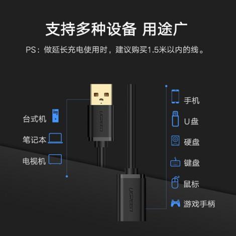 Cable USB 2.0 nối dài 5m Ugreen 10318