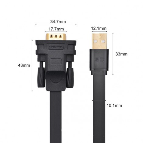 Cable USB 2.0 sang RS232 (COM) Ugreen 20218