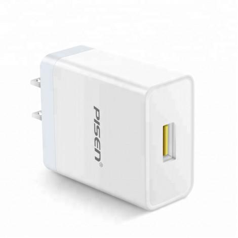 Cốc sạc Pisen USB Fast Wall Charger (USB QC3.0, 18W) TS-C092