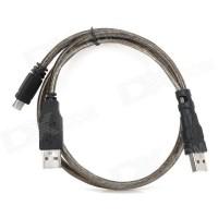 CABLE 2 USB - Mini Unitek Y-C436 0.8m