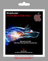 Phần mềm diệt virus Bitdefender ANTI FOR MAC 1U/1Y