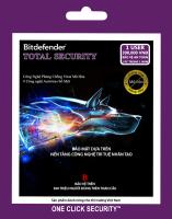 Phần mềm diệt virus Bitdefender TOTAL 1U/1Y