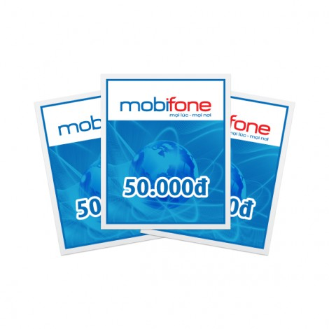 Thẻ cào điện thoại Mobifone 50