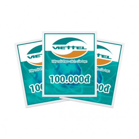 Thẻ cào điện thoại Viettel 100