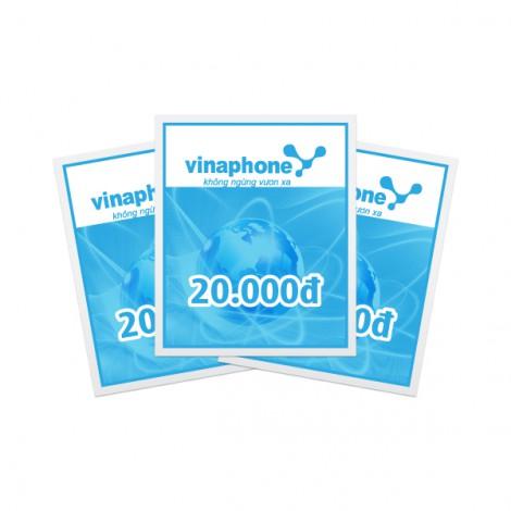 Thẻ cào điện thoại Vinaphone 20