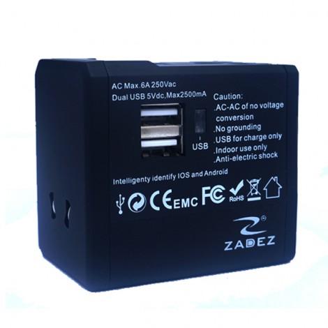 Cốc sạc đa năng Zadez ZTA-33