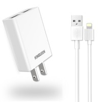 Sạc Kingleen (2USB)3.1A C824+Cable IP6
