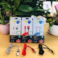 Cable PISEN Lightning Cloth & Aluminum 2.4A LS-AL09-1200
