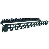 DINTEK Patch Panel Cat.6A UTP 1U 24P 19inch Snap-In 1406-00011