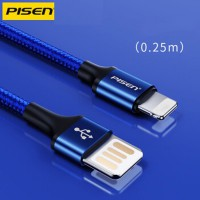 Cable PISEN Lightning (Double Side) braided 250mm-LS-AL07-250