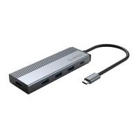 Hub USB Type-C 5 trong 1 cổng Type C Orico-5SXH-GY
