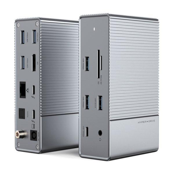 Cổng chuyển HyperDrive Gen2 16-in-1 Thunderbolt 3 Docking Station và Bộ nguồn DC 180W  for Macbook, Chrom, PC, Laptop (HD-G2TB3)