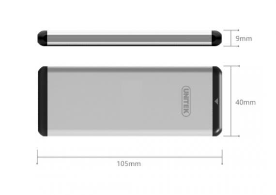 HDD Box USB 3.0 -> M.2 NGFF/SATA UNITEK (Y-3365)