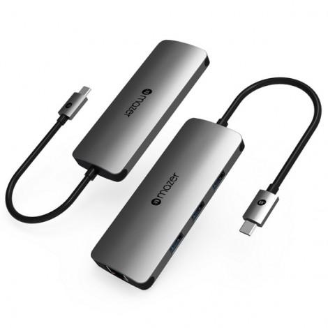 Cổng chuyển đổi USB-C 4 trong 1 Mazer M-UC2MULTI302-GY
