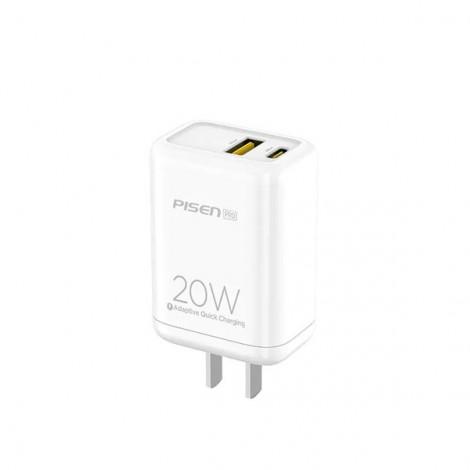 Cốc sạc PISEN Pro Dual Port QP 20W (QC, PD 20W ) TS-C119