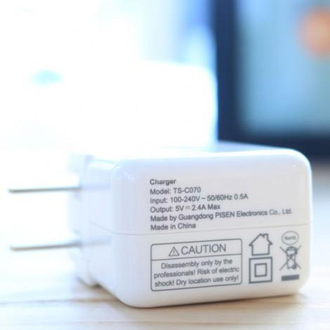 Sạc Pisen Dual USB iPad Charger (1A/2.4A)
