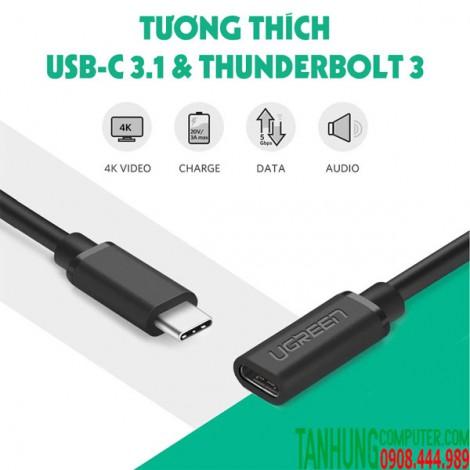 Cáp USB Type-c Ugreen 40574 0.5M