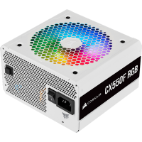 Nguồn máy tính Corsair CX550F RGB White 80 Plus Bronze - ...