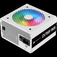 Nguồn máy tính Corsair CX750F RGB White 80 Plus Bronze - ...