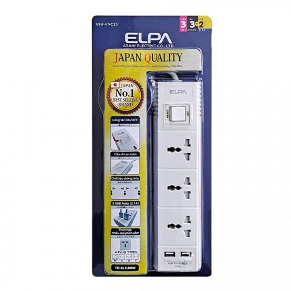 Ổ cắm điện ELPA ESU-VNC33