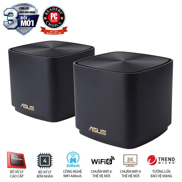 Bộ phát wifi ASUS XD4 (B-2PK) Mesh wifi 6, Chuẩn AX1800