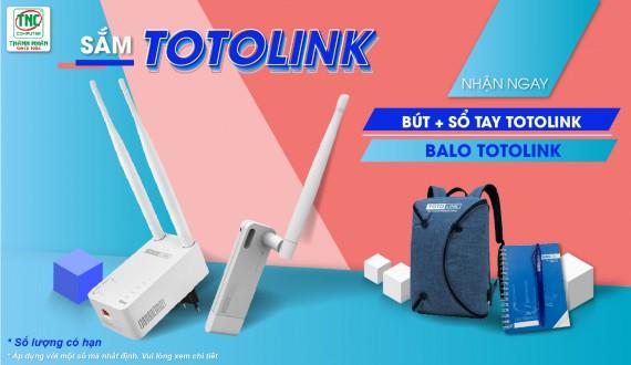Sắm Totolink Nhận ngay Bút + Sổ tay Totolink / Balo Totolink