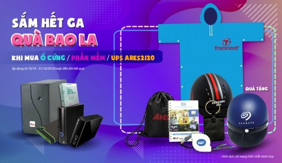 Sắm hết ga - Quà bao la Khi mua ổ cứng/ Phần mềm/ UPS Ares2120