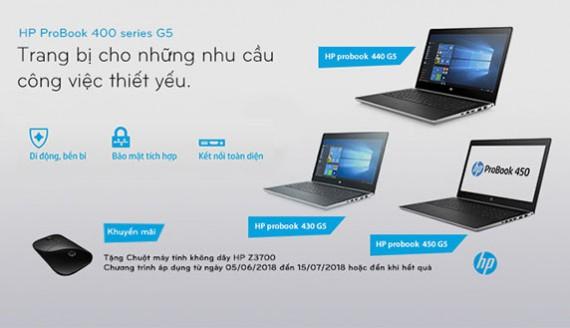 Tặng chuột không dây HP khi mua HP ProBook 400 series G5