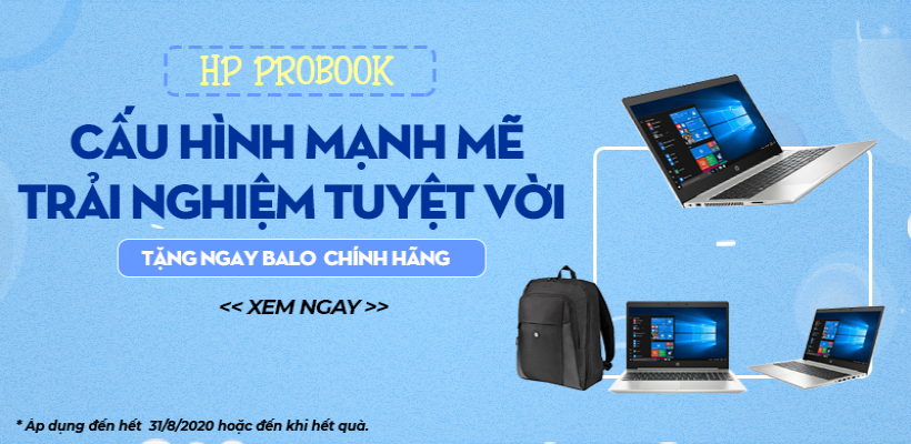 Laptop hp probook: mua là có quà!