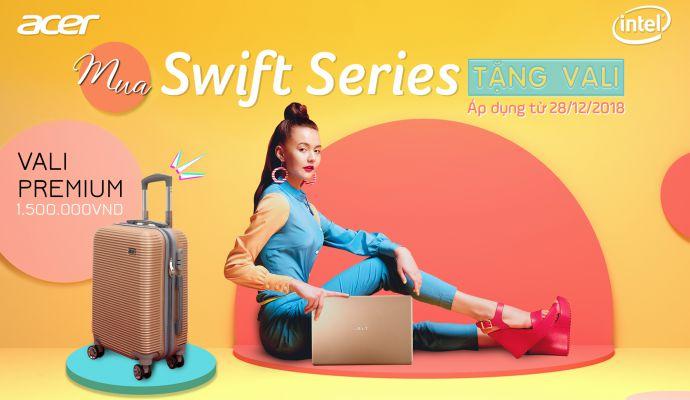 Mua acer swift series tặng vali