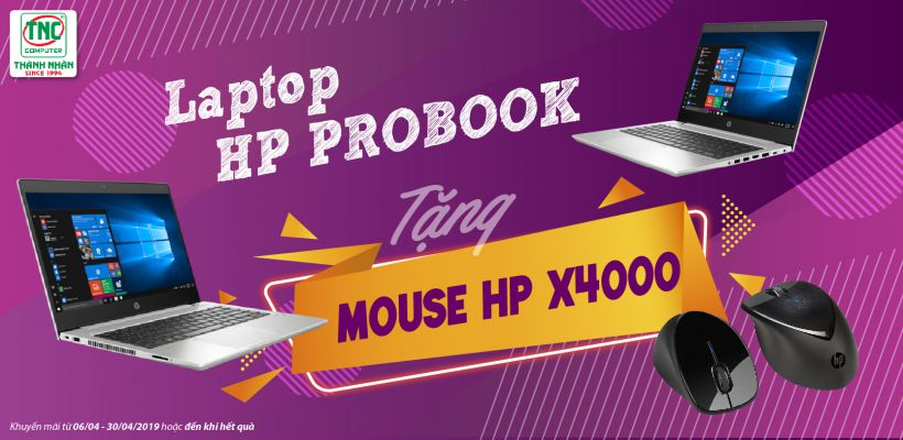 Mua laptop hp probook nhận ngay mouse