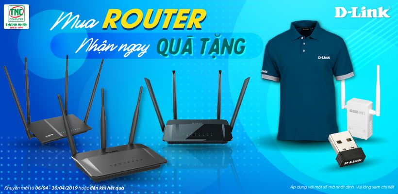 Mua router d-link nhận ngay quà