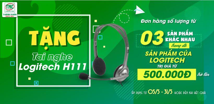 Tặng tai nghe logitech h111 cho