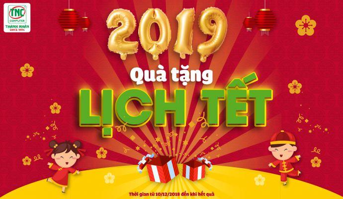 Quà tặng lịch tết 2019