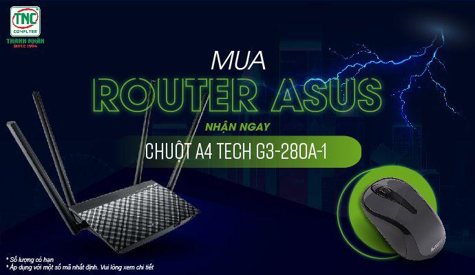 Mua router asus - nhận ngay chuột