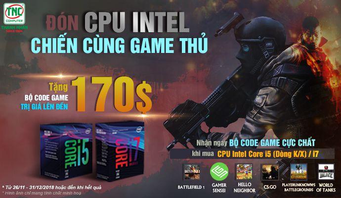 đón cpu intel chiến cùng game thủ