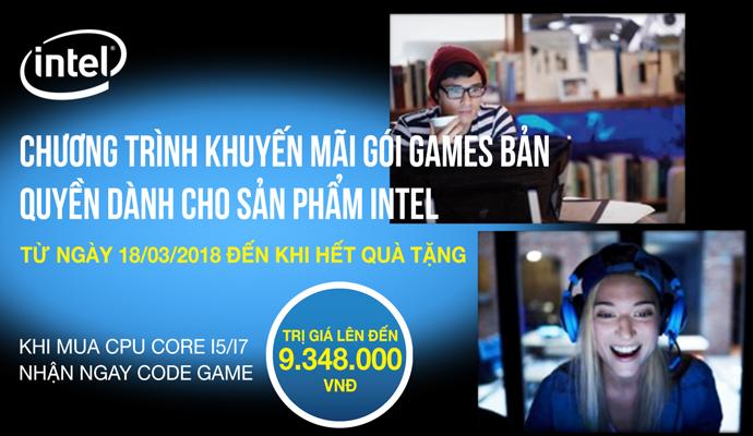 Gói games bản quyền cùng intel