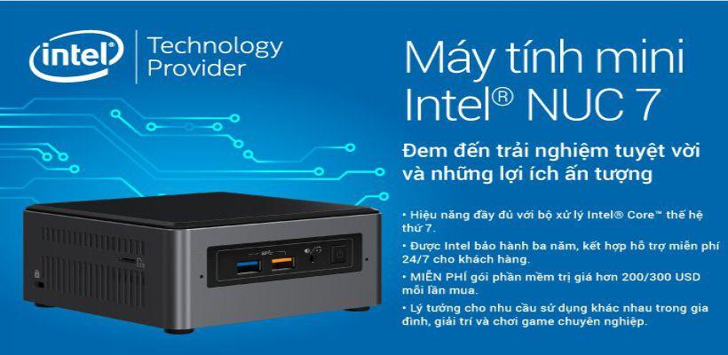 Máy tính mini intel nuc 7